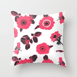 Anemones Throw Pillow