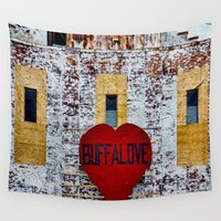 buffalo Wall Tapestries featuring Buffalo Love by Michelle Anderson