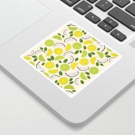 Lime Lemon Coconut Mint pattern Sticker