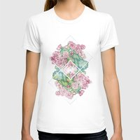 leah flores T-shirts featuring Flores by Barlena
