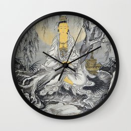 White-robed Kannon - Digital Remastered Edition Wall Clock