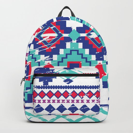 Red&Blue Tiles Backpack
