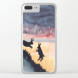 Sunset Leap Clear iPhone Case