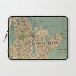 Vintage Map of Boston MA (1900) Laptop Sleeve
