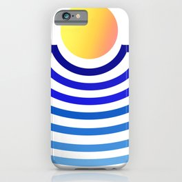 Geometric Sunset gradient iPhone Case