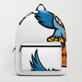 Great Horned Owl American Football Mascot Backpack