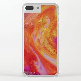 Tangerine Foam Clear iPhone Case
