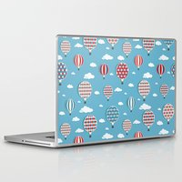 hot air balloons Laptop & iPad Skins featuring Hot Air Balloons by Matt Andrews