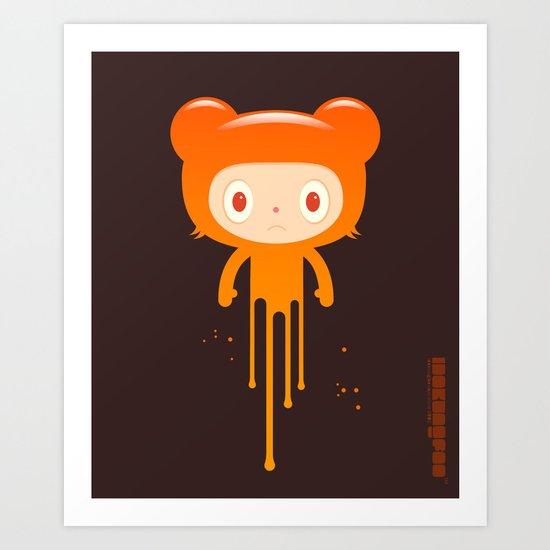 melting moment stare bear Art Print