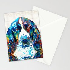 Colorful English Springer Spaniel Dog by Sharon Cummings Stationery Cards