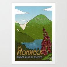 Hohneck travel poster Art Print