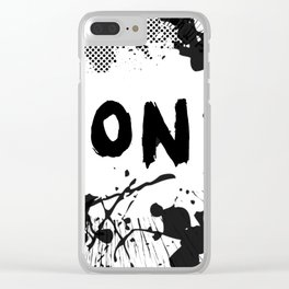 Don't (Ink Blast) Clear iPhone Case