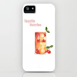 Tequila Sunrise - text iPhone Case