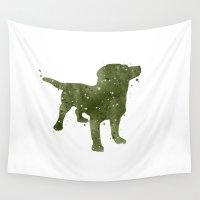 labrador Wall Tapestries featuring Labrador Retriever by Carma Zoe