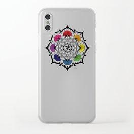 Om Mandala Clear iPhone Case