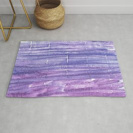 Blue purple abstract Rug