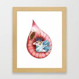 Sleeping Beauty, Drop Framed Art Print