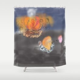 Bondfire Shower Curtain