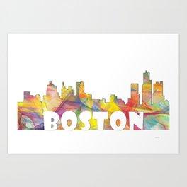 Massachusetts Skyline MCLR 2 Art Print