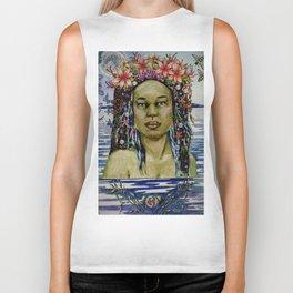 Yemaya, Goddess of the Sea Biker Tank