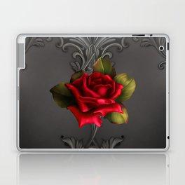 Gothic Glamour Red Rose Black Ornamental Glam Laptop & iPad Skin