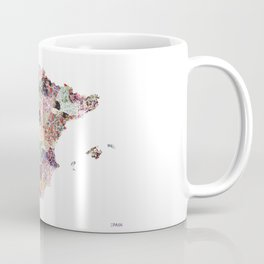 Spain map flowers composition Coffee Mug