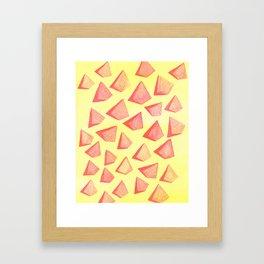 Triangle Mad Framed Art Print