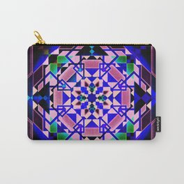 Purple, blue shapes and paterns Carry-All Pouch