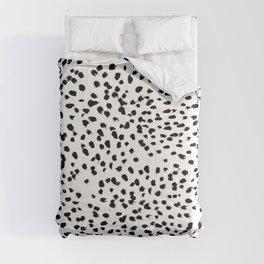 Dalmat-b&w-Animal print I Comforters