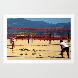 The Volleyball Lesson Art Print