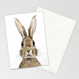cute innocent rabbit Stationery Cards