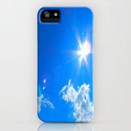 Sun, clouds iPhone Case