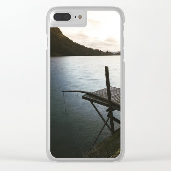 Salmon Sunrise Clear iPhone Case