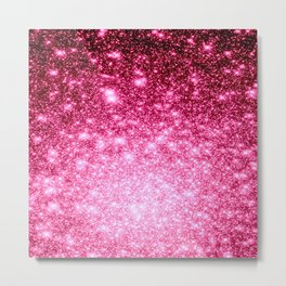 Galaxy Bubblegum Pink Metal Print