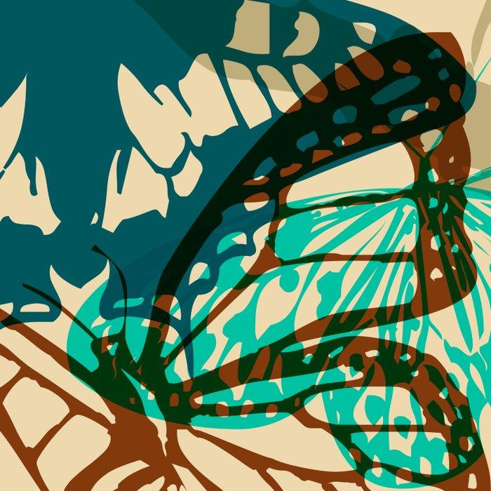 Abstract Butterflies 02 Duvet Cover