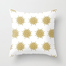 Mosaic Sun Throw Pillow