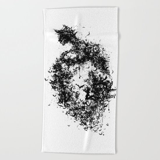 A Dark Cave Beach Towel