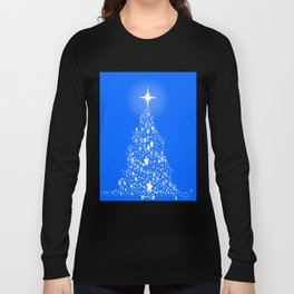 Star Spangled Snowflake Christmas Tree Long Sleeve T-shirt