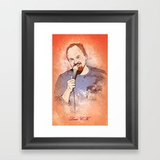 Make Me Laugh - Louis CK Framed Art Print