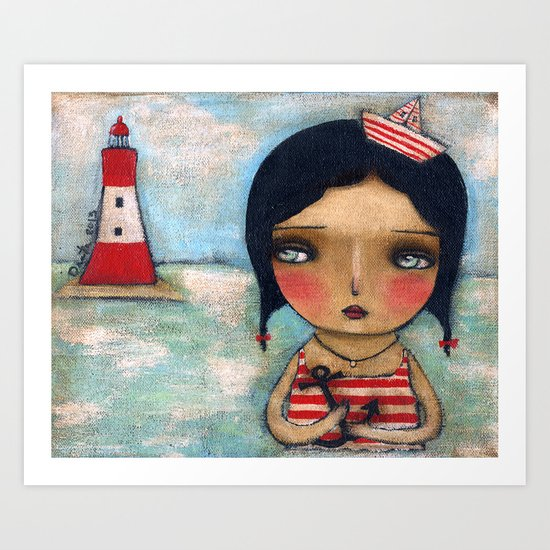 Anchor Girl Art Print