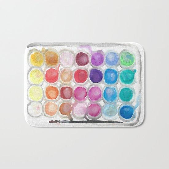 Watercolor Set Bath Mat