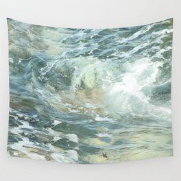 Cushion me soft, rock me billowy drowse, Dash me with amorous wet. Wall Tapestry