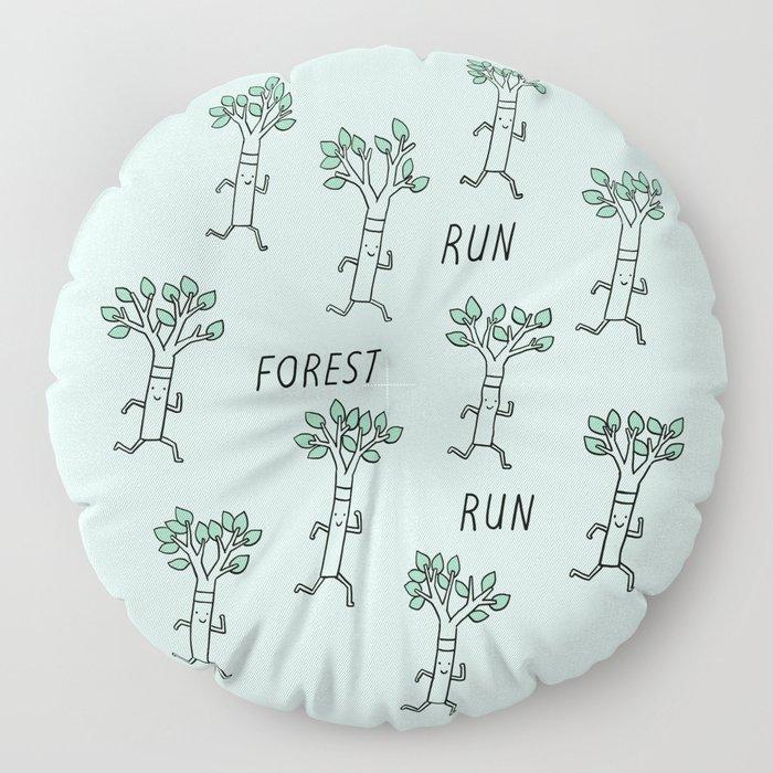 Run Forest Run Floor Pillow