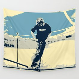 On the Rim - Scooter Boy Wall Tapestry