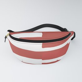 Big Stripes In Red Fanny Pack