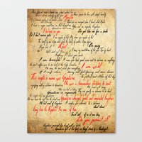 grantaire Canvas Prints featuring Grantaire by Jessica Latham