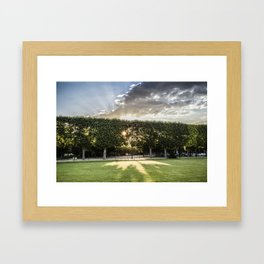 Set Sun on Beam Framed Art Print