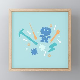 Young Pastel Engineer Framed Mini Art Print