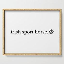 irish sport horse brand Serving Tray