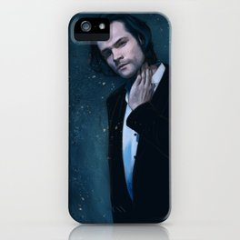 Jared Padalecki. Blue iPhone Case
